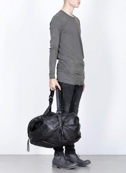 LEON EMANUEL BLANCK Distortion Weekender Bag Tasche DIS WEB 01 M horse full grain leather black hide m 4
