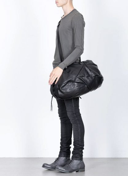LEON EMANUEL BLANCK Distortion Weekender Bag Tasche DIS WEB 01 M horse full grain leather black hide m 5