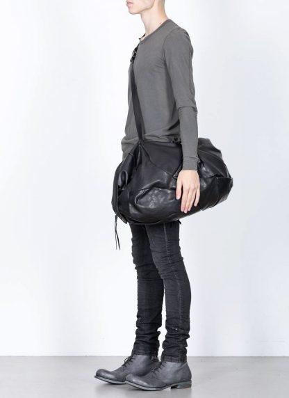 LEON EMANUEL BLANCK Distortion Weekender Bag Tasche DIS WEB 01 M horse full grain leather black hide m 6
