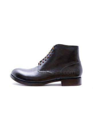 M MORIABC Men Ankle Boot AA DVE Herren Schuh Stiefel Genuine Horween Shell Cordovan Horse Leather Black Hide M 2