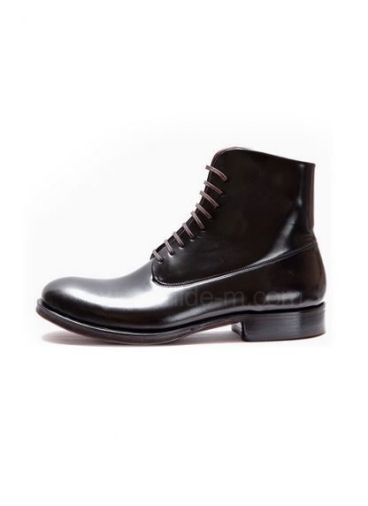 M MORIABC Men Boot BB Tre Herren Schuh Stiefel Genuine Horween Shell Cordovan Horse Leather Black hide m 2