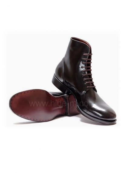 M MORIABC Men Boot BB Tre Herren Schuh Stiefel Genuine Horween Shell Cordovan Horse Leather Black hide m 3