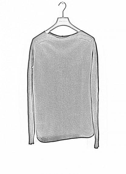 ANDREA CORTELLA women boat neck sweater M2CSS20 cotton linen dark blue black hide m 1