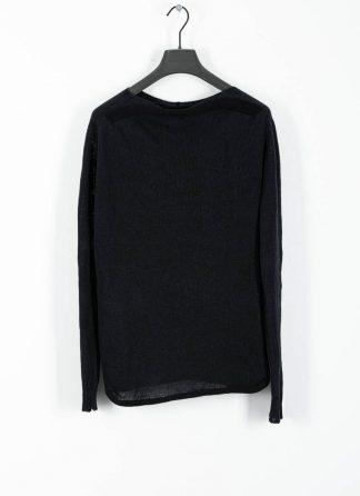 ANDREA CORTELLA women boat neck sweater M2CSS20 cotton linen dark blue black hide m 2