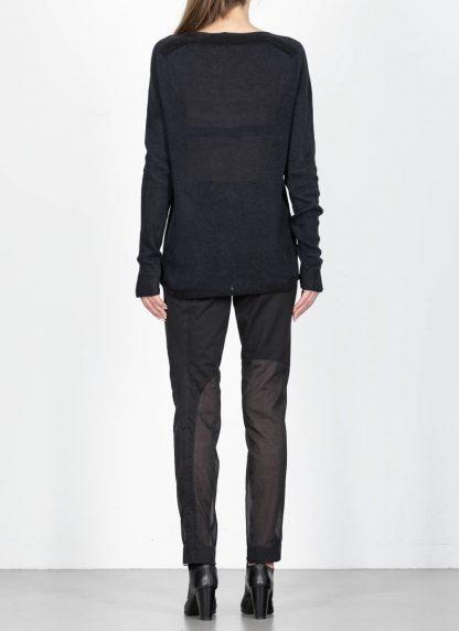 ANDREA CORTELLA women boat neck sweater M2CSS20 cotton linen dark blue black hide m 5