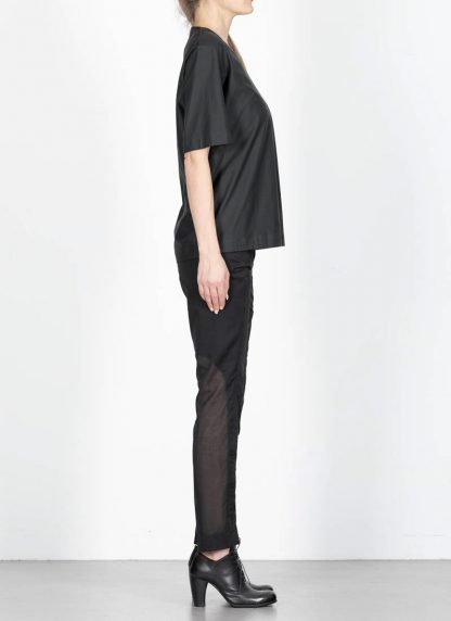 ANDREA CORTELLA women cylinder t shirt T1CSS20 damen top cotton blue black hide m 4