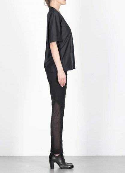 ANDREA CORTELLA women cylinder t shirt T1CSS20 damen top cotton green black hide m 4