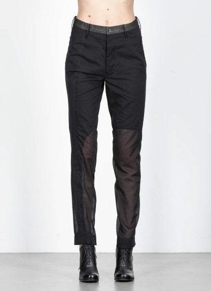 ANDREA CORTELLA women pants full and empty P2CSS20 cotton black hide m 3