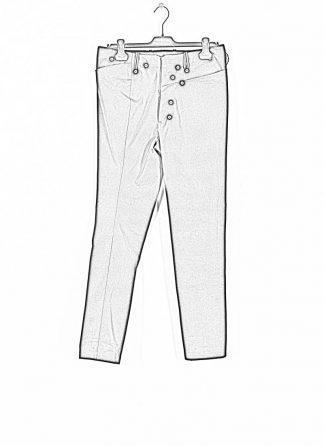 ANDREA CORTELLA women pants with divergent joints damen hose P3CSS20 cotton black hide m 1