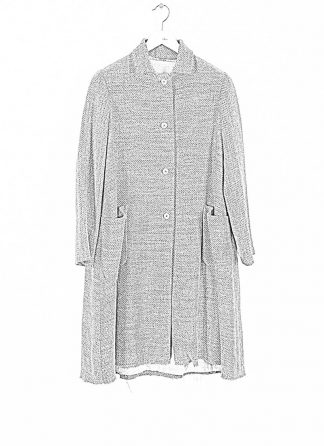 M.A cross Maurizio Amadei women short collar wide two pocket coat damen mantel CW362P VWL virgin wool linen grey hide m 1