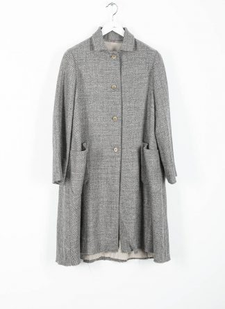 M.A cross Maurizio Amadei women short collar wide two pocket coat damen mantel CW362P VWL virgin wool linen grey hide m 2