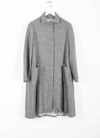 M.A cross Maurizio Amadei women short collar wide two pocket coat damen mantel CW362P VWL virgin wool linen grey hide m 2