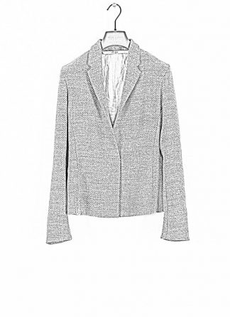 M.A cross Maurizio Amadei women short jacket damen blazer jacke JW182 VWL virgin wool linen grey hide m 1