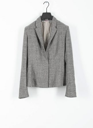M.A cross Maurizio Amadei women short jacket damen blazer jacke JW182 VWL virgin wool linen grey hide m 2