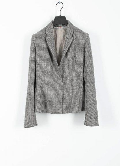 M.A cross Maurizio Amadei women short jacket damen blazer jacke JW182 VWL virgin wool linen grey hide m 2
