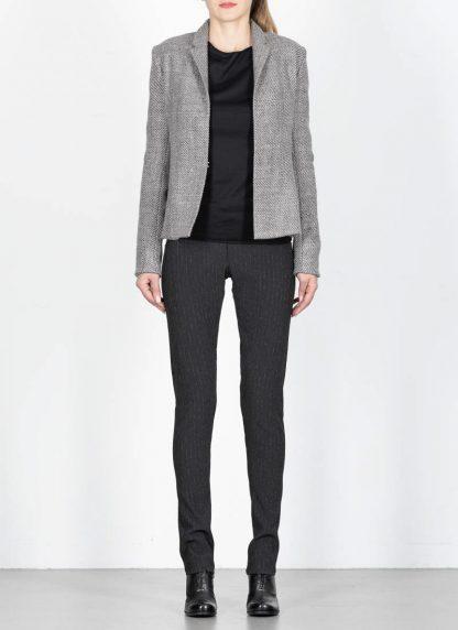 M.A cross Maurizio Amadei women short jacket damen blazer jacke JW182 VWL virgin wool linen grey hide m 3