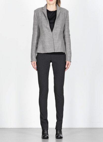 M.A cross Maurizio Amadei women short jacket damen blazer jacke JW182 VWL virgin wool linen grey hide m 4