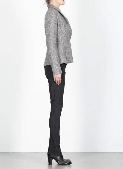 M.A cross Maurizio Amadei women short jacket damen blazer jacke JW182 VWL virgin wool linen grey hide m 5