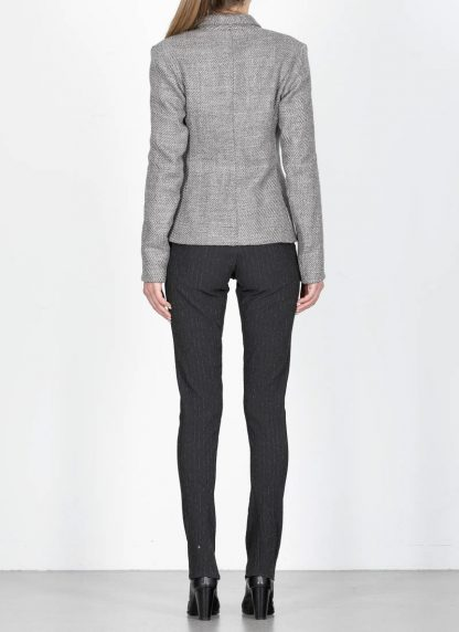 M.A cross Maurizio Amadei women short jacket damen blazer jacke JW182 VWL virgin wool linen grey hide m 6