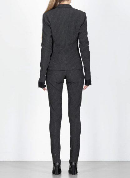 M.Across MAURIZIO AMADEI women Short Jacket Damen Jacke Blazer JW182 EVR viscose eme coal hide m 6