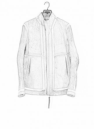 BORIS BIDJAN SABERI ss20 J1 men jacket herren jacke reversible FMM20041 natural tan kangaroo leather light grey hide m 1
