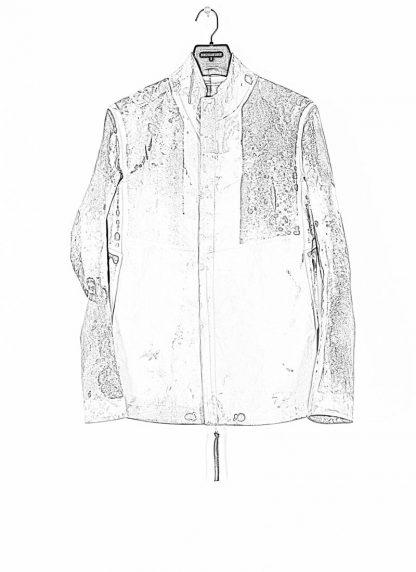BORIS BIDJAN SABERI ss20 J1 men jacket herren jacke reversible FMM20041 natural tan kangaroo leather light grey hide m 3