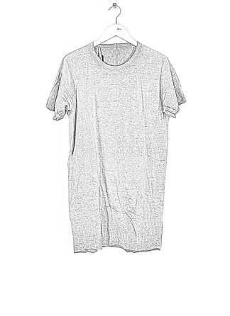BORIS BIDJAN SABERI ss20 ONE PIECE TS RF SEAM TAPED men tshirt tee herren t shirt F035 cotton faded light grey hide m 1
