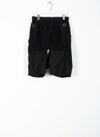 BORIS BIDJAN SABERI ss20 P27 men shorts trousers pants herren hose F1501M cotton linen elastan black hide m 2
