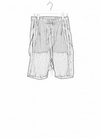BORIS BIDJAN SABERI ss20 P27 men shorts trousers pants herren hose F1501M cotton linen elastan dark grey hide m 1