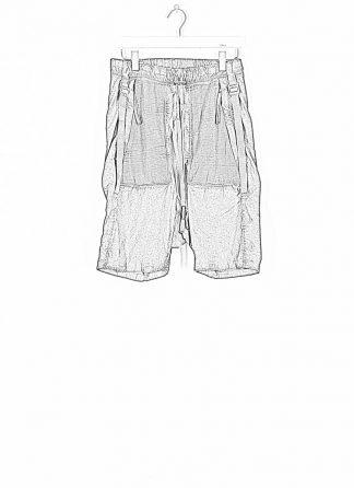 BORIS BIDJAN SABERI ss20 P27 men shorts trousers pants herren hose F1501M cotton linen elastan dark grey hide m 1