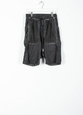 BORIS BIDJAN SABERI ss20 P27 men shorts trousers pants herren hose F1501M cotton linen elastan dark grey hide m 2