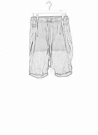 BORIS BIDJAN SABERI ss20 P27 men shorts trousers pants herren hose F1501M cotton linen elastan faded dark grey hide m 1