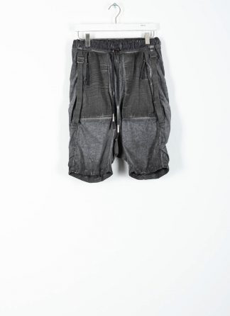 BORIS BIDJAN SABERI ss20 P27 men shorts trousers pants herren hose F1501M cotton linen elastan faded dark grey hide m 2