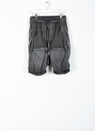 BORIS BIDJAN SABERI ss20 P27 men shorts trousers pants herren hose F1501M cotton linen elastan faded dark grey hide m 2