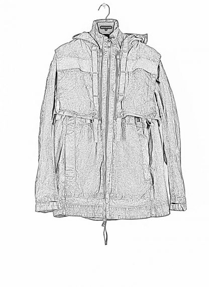 BORIS BIDJAN SABERI ss20 PARKA2 men jacket herren jacke F1502F W cotton dark grey hide m 1