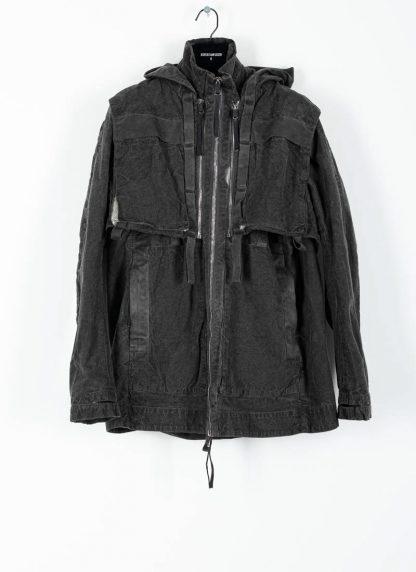 BORIS BIDJAN SABERI ss20 PARKA2 men jacket herren jacke F1502F W cotton dark grey hide m 2