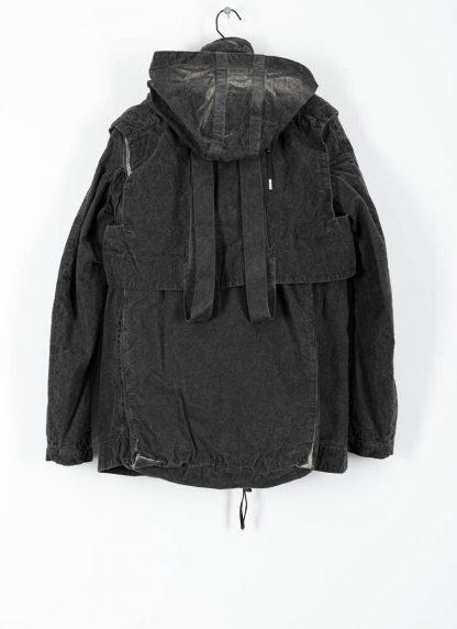 BORIS BIDJAN SABERI ss20 PARKA2 men jacket herren jacke F1502F W cotton dark grey hide m 3