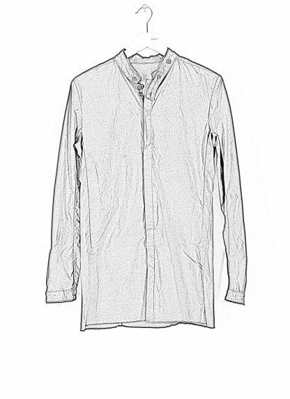 BORIS BIDJAN SABERI ss20 SHIRT1 men button down shirt herren hemd F1501M cotton linen elastan black hide m 1
