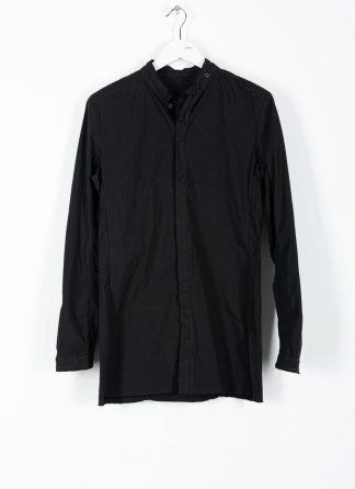 BORIS BIDJAN SABERI ss20 SHIRT1 men button down shirt herren hemd F1501M cotton linen elastan black hide m 2