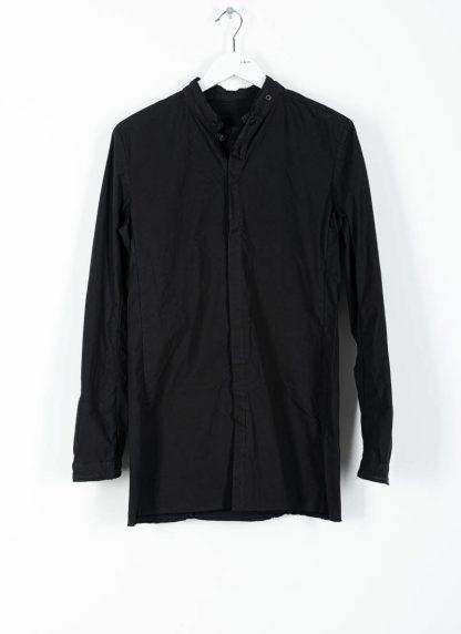 BORIS BIDJAN SABERI ss20 SHIRT1 men button down shirt herren hemd F1501M cotton linen elastan black hide m 2