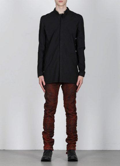 BORIS BIDJAN SABERI ss20 SHIRT1 men button down shirt herren hemd F1501M cotton linen elastan black hide m 3