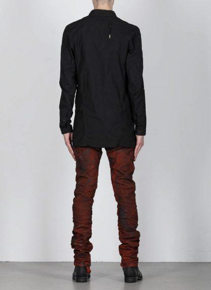 BORIS BIDJAN SABERI ss20 SHIRT1 men button down shirt herren hemd F1501M cotton linen elastan black hide m 5