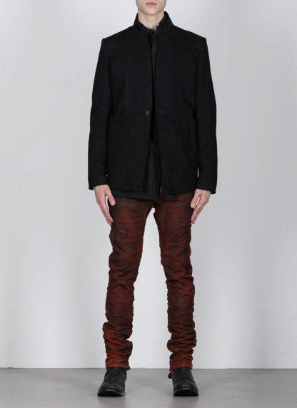 BORIS BIDJAN SABERI ss20 SUIT1 men suit blazer jacket herren jacke F1401M cotton black hide m 3