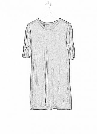 BORIS BIDJAN SABERI ss20 TS1 TF men tshirt herren t shirt FTT1000001 cotton cashmere black hide m 1