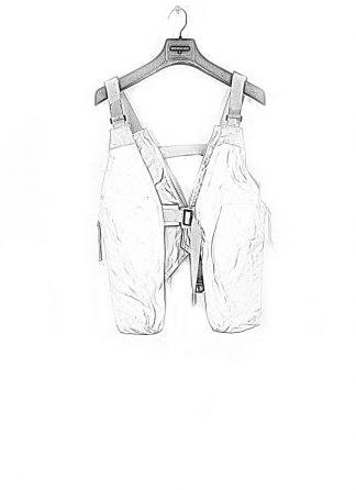 BORIS BIDJAN SABERI ss20 VEST3 men vest herren weste vest bag FMM20006 white tan kangaroo leather light grey hide m 1