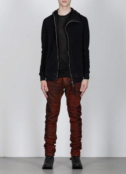 BORIS BIDJAN SABERI ss20 ZIPPER2 men zipper jacket herren jacke F0503M cotton black hide m 3