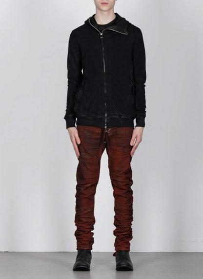 BORIS BIDJAN SABERI ss20 ZIPPER2 men zipper jacket herren jacke F0503M cotton black hide m 4