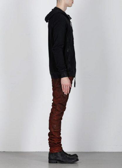 BORIS BIDJAN SABERI ss20 ZIPPER2 men zipper jacket herren jacke F0503M cotton black hide m 5