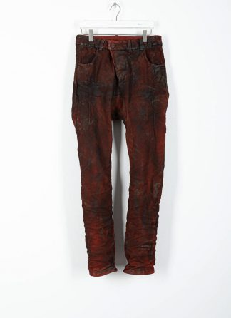 BORIS BIDJAN SABERI ss20 men pants P13HS TF fully hand stitched herren hose jeans F177 cotton ly blood red hide m 2
