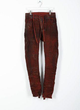 BORIS BIDJAN SABERI ss20 men pants P13TF herren hose jeans F177 cotton ly blood red hide m 2